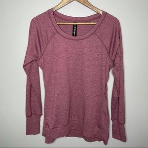 Yogalicious Crewneck Burgundy Sweatshirt
